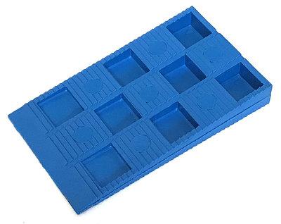 Kunststof Stelwig 70x40x10MM Blauw - 100 stuks