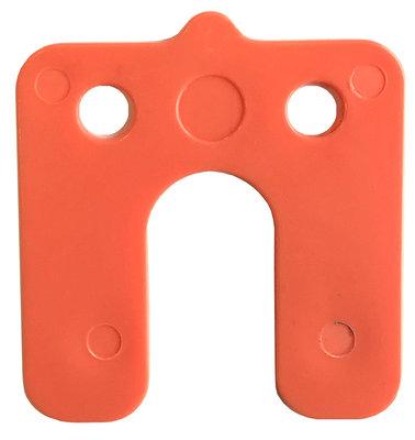 Drukplaat met Sleuf 2MM Oranje - 240 stuks