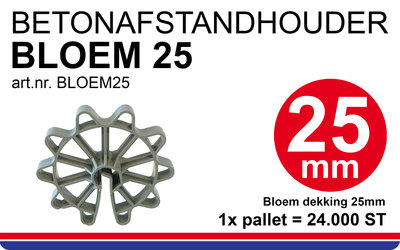 Bloem 25 Ringafstandhouder bloem dekking 25