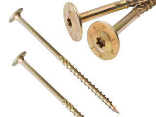 Tellerkopschroeven Verzinkt Torx 6,0 x 260/70mm - 100 stuks