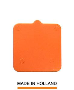 Belplast® Drukplaat zonder sleuf 2mm oranje