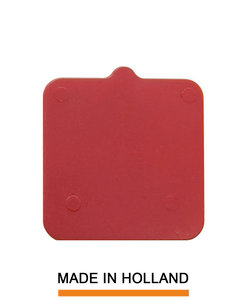 Belplast® Drukplaat zonder sleuf 5mm rood