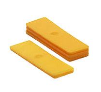 Glasblokjes 4mm geel